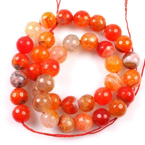 TT Thời Trang 3Strings-lot-Latest-Fashion-Orange-Agate-Round-Ball-Beads-Jewelry-Charms-Fit-Necklaces-Bracelets-DIY-Handcraft-1 Mã não cam