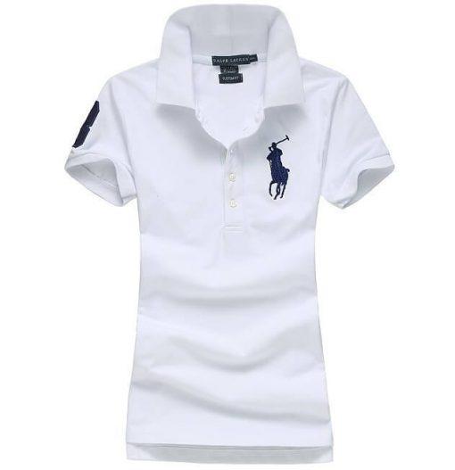 TT Thời Trang RL-Women-Big-Pony-polo-shirt-number-3-white-shirt-19 Áo thun POLO Ralph Lauren Số 3 (Nữ)