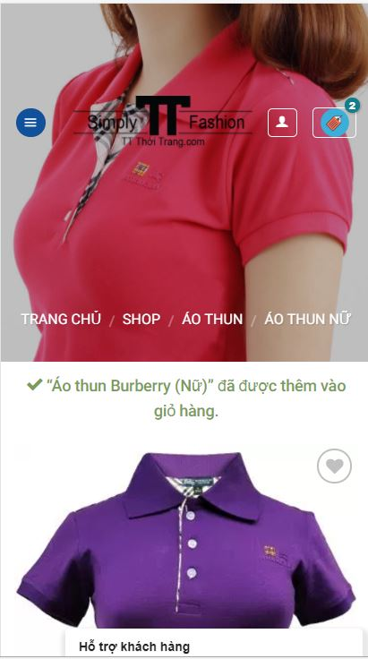 TT Thời Trang dt5 Hướng dẫn mua hàng trên điện thoại