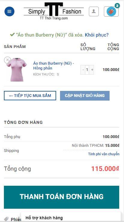 TT Thời Trang dt8 Hướng dẫn mua hàng trên điện thoại