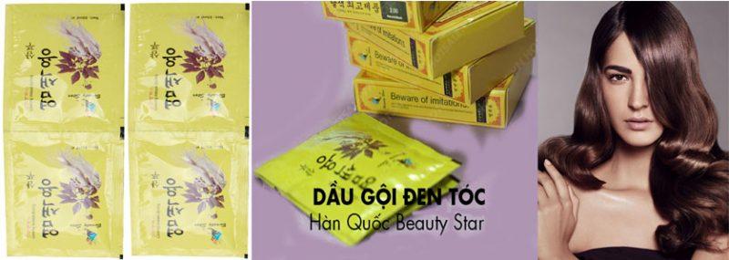 TT Thời Trang goi-la-den-800x285 Dầu Gội Thảo Dược Đen Tóc Beauty Star Hàn Quốc (Hộp 10 Gói x 30ml)