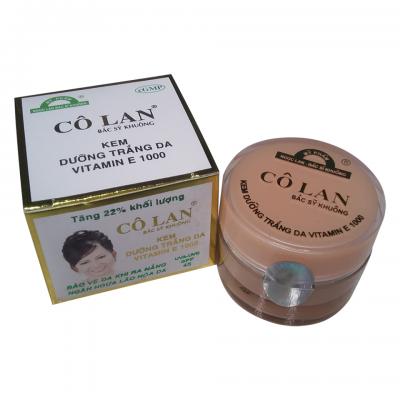 TT Thời Trang kem-trang-da-vitamin-E-400x400 Kem dưỡng trắng da vitamin E1000 (11g) Cô Lan Bác sĩ Khuông